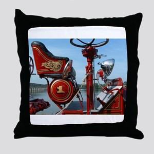Vintage fire truck Throw Pillow