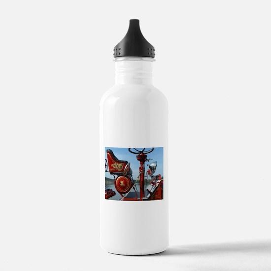 Vintage fire truck Water Bottle