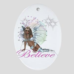 believe fairy moon Ornament (Oval)
