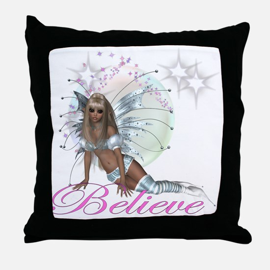 believe fairy moon.png Throw Pillow