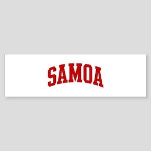 SAMOA (red) Bumper Sticker
