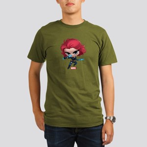 Chibi Black Widow Sty Organic Men's T-Shirt (dark)