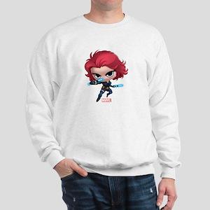 Chibi Black Widow Stylized Sweatshirt