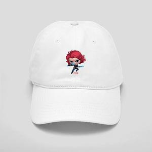 Chibi Black Widow Stylized Cap