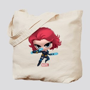 Chibi Black Widow Stylized Tote Bag