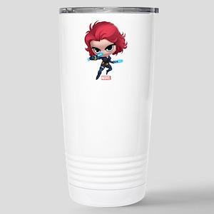 Chibi Black Widow Styli Stainless Steel Travel Mug