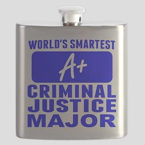 Worlds Smartest Criminal Justice Major Flask