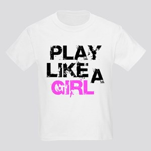 Play Like A Girl Kids Light T-Shirt