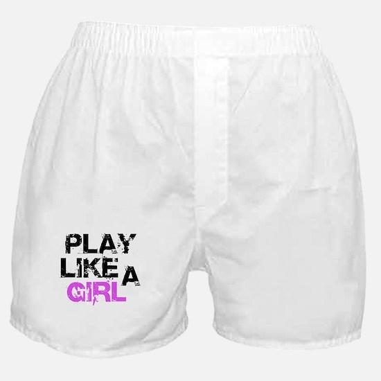 Play Like A Girl Boxer Shorts