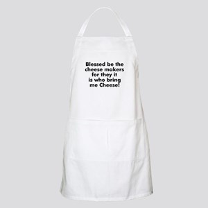 Blessed be the cheese makers  BBQ Apron