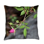 Perfect Pink Bud Everyday Pillow
