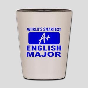 Worlds Smartest English Major Shot Glass