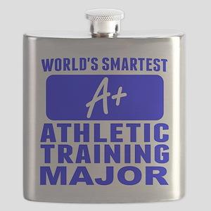 Worlds Smartest Athletic Training Major Flask