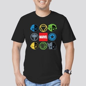 Chibi Avengers Stylize Men's Fitted T-Shirt (dark)