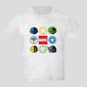 Chibi Avengers Stylized Icons Kids Light T-Shirt