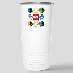 Chibi Avengers Stylized Stainless Steel Travel Mug