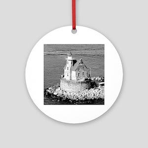Race Rock Lighthouse Ornament (Round)