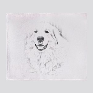 Great Pyrenees Jitan Throw Blanket