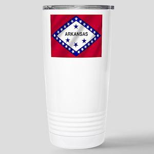 Arkansas State Flag Stainless Steel Travel Mug