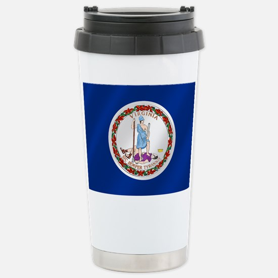 Virginia State Flag Stainless Steel Travel Mug