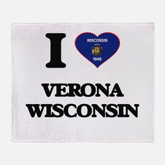 I love Verona Wisconsin Throw Blanket