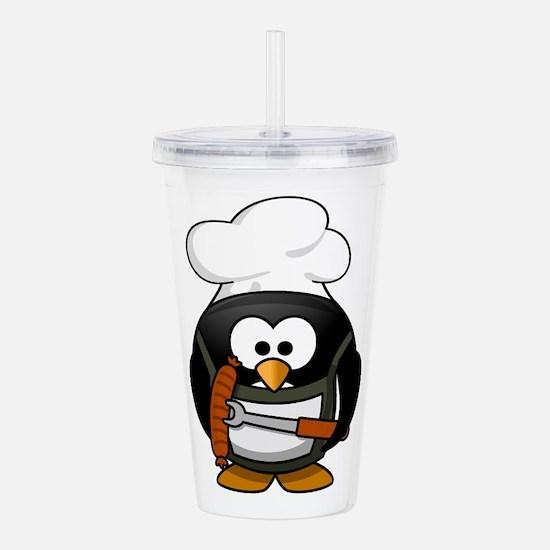 Penguin Grill Acrylic Double-wall Tumbler