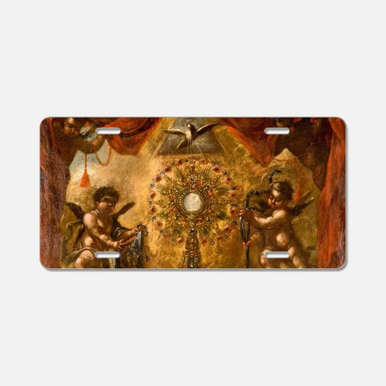 Allegory of the Eucharist Aluminum License Plate