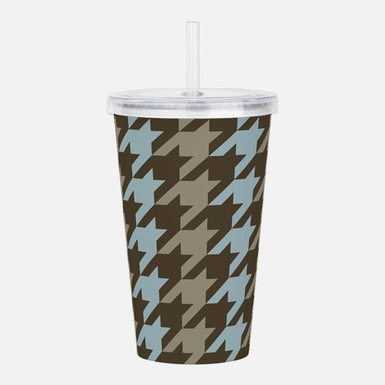 Vertical Houndstooth Acrylic Double-wall Tumbler