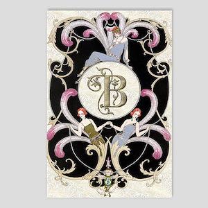 Monogram B Barbier Cabare Postcards (Package of 8)