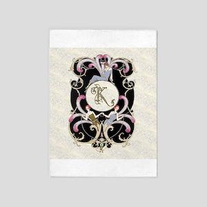 Monogram K Barbier Cabaret 5'x7'Area Rug