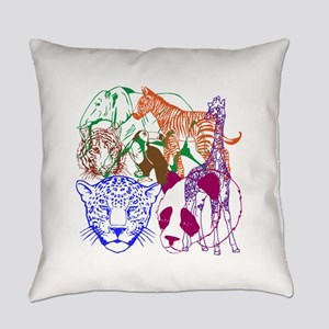 Jungle Beings Everyday Pillow