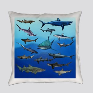 Shark Gathering Everyday Pillow