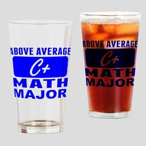 Above Average Math Major Drinking Glass