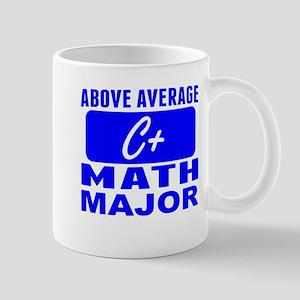 Above Average Math Major Mugs