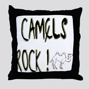 Camels Rock ! Throw Pillow