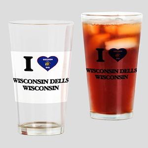 I love Wisconsin Dells Wisconsin Drinking Glass