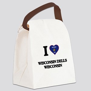 I love Wisconsin Dells Wisconsin Canvas Lunch Bag