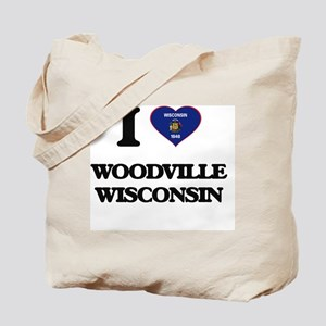 I love Woodville Wisconsin Tote Bag