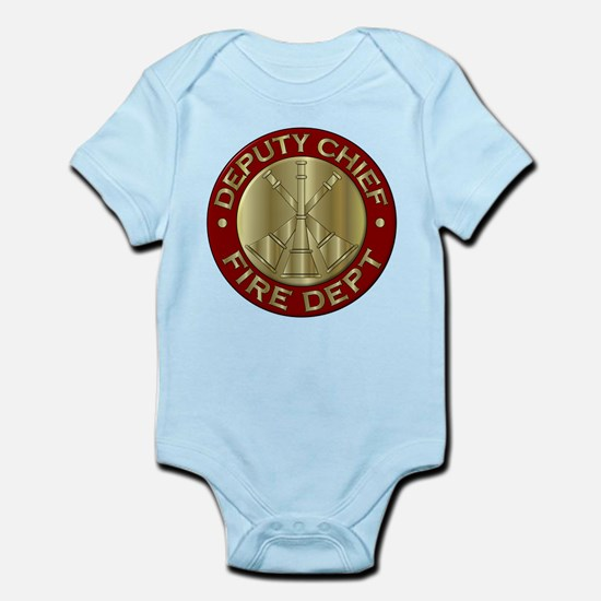 deputy fire chief brass emblem Body Suit