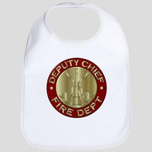 deputy fire chief brass emblem Bib