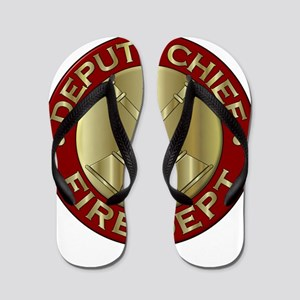 deputy fire chief brass emblem Flip Flops