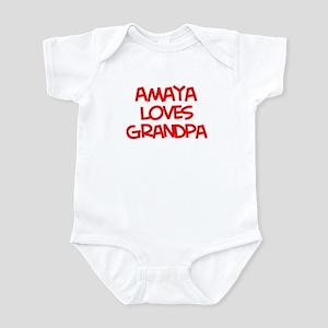 Amaya Loves Grandpa Infant Bodysuit