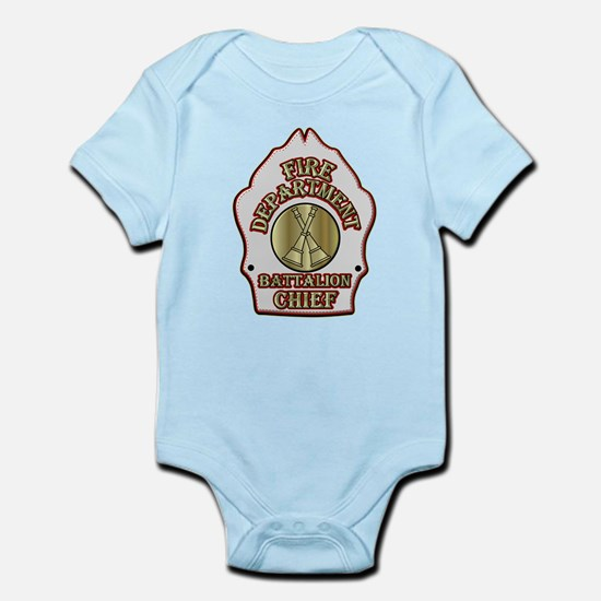battalion chief FD badge white Body Suit