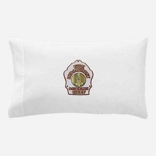 battalion chief FD badge white Pillow Case
