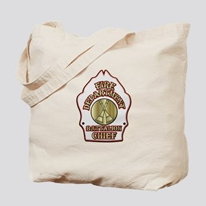 battalion chief FD badge white Tote Bag