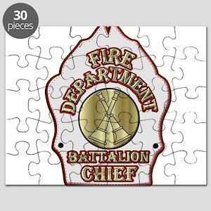battalion chief FD badge white Puzzle