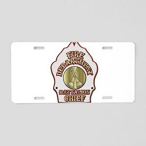 battalion chief FD badge wh Aluminum License Plate