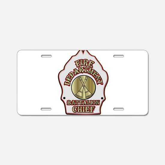 battalion chief FD badge wh Aluminum License Plate