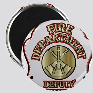 fire department deputy chief shield Magnets