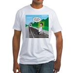 Train Toilet Fitted T-Shirt